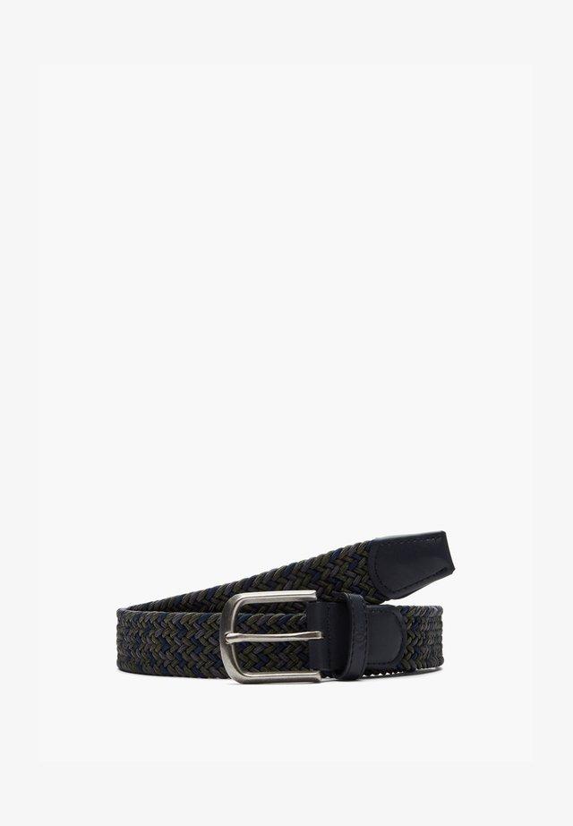 MIT DORNSCHLIESSE - Braided belt - olive heringbone