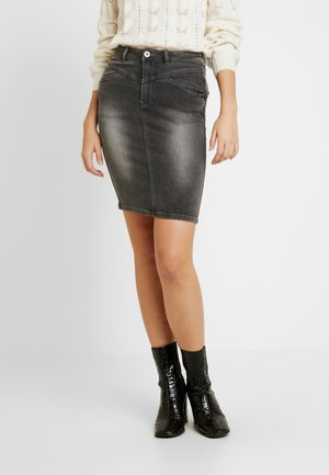 NMBE LEXI TRIANGLE SKIRT - Pouzdrová sukně - medium grey denim