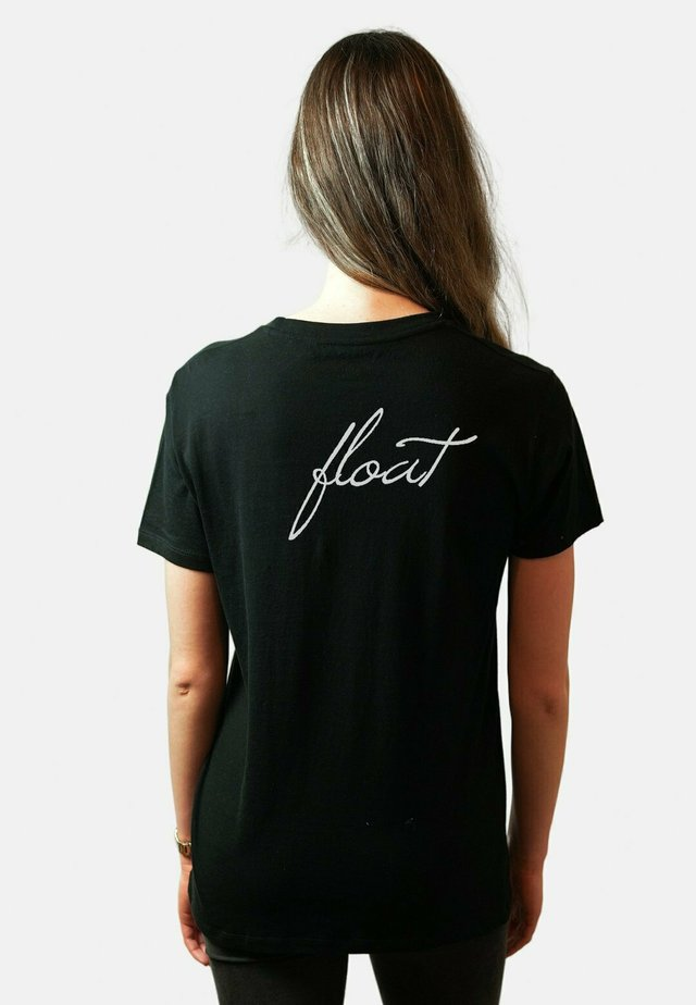 FLOAT BACK UNISEX - T-shirt print - black