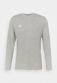 Umbro - SMALL LOGO TEE - Long sleeved top - grey marl - 0