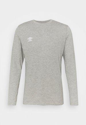 SMALL LOGO TEE - Long sleeved top - grey marl