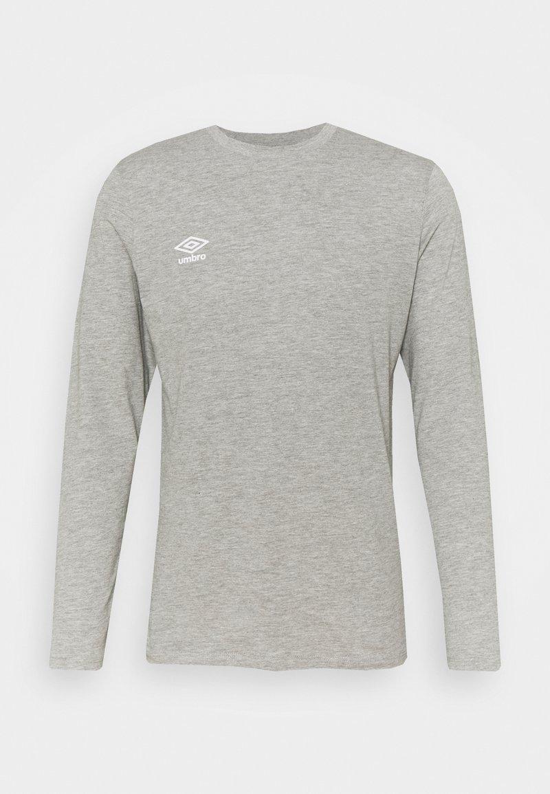 Umbro - SMALL LOGO TEE - Long sleeved top - grey marl