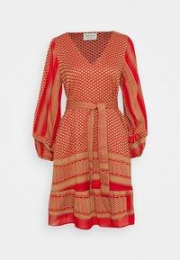 CECILIE copenhagen - LIV - Day dress - camel/red - 0