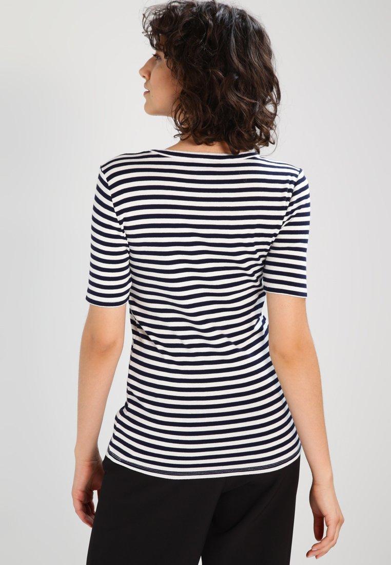 J.crew Perfect Fit Tee - T-shirts Med Print Navy/ivory/mørkeblå