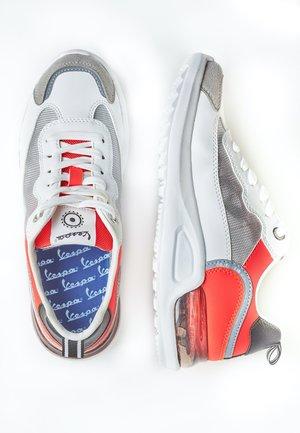 BUBBLE - Sneakers basse - 1042 - bianco-arancione acceso