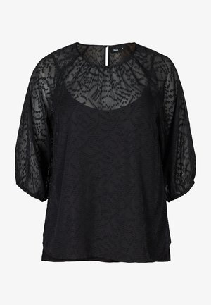 TEXTURED - Blouse - black
