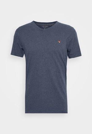 JPRFRANK - Jednoduché triko - denim blue