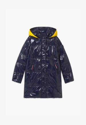 HIGH SHINE GLOSSY LONG PUFFER - Winter coat - blue