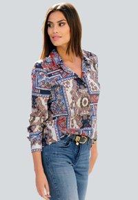Alba Moda - Button-down blouse - marineblau,rot,weiß - 0