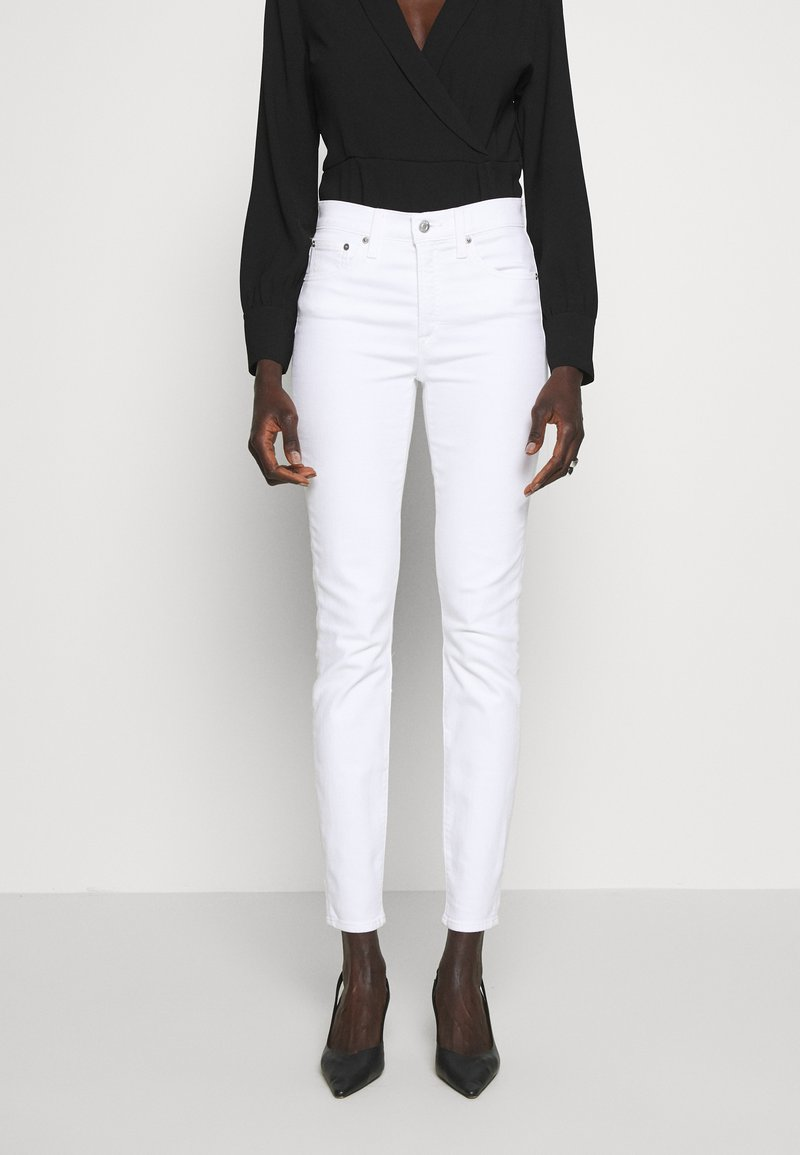 J.CREW TALL - LOOKOUT HIGH RISE - Jeans Slim Fit - white