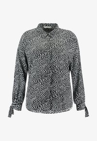Glamorous Curve - DALMATIAN SPOT TIE SLEEVE - Button-down blouse - monochrome - 4