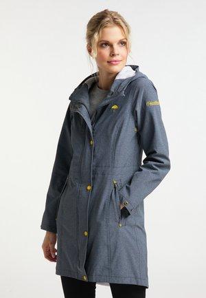 Waterproof jacket - rauchmarine melange