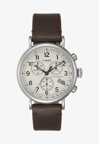 Timex - STANDARD CHRONOGRAPH 41 mm - Chronograph watch - silver-coloured/brown - 1