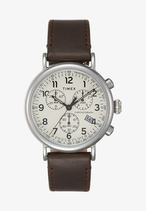 STANDARD CHRONOGRAPH 41 mm - Chronograph watch - silver-coloured/brown