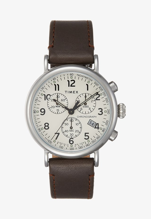 STANDARD CHRONOGRAPH 41 mm - Chronograaf - silver-coloured/brown