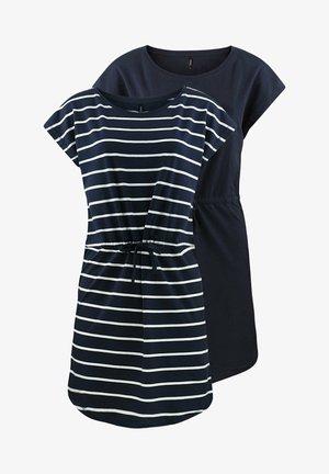 ONLMAY 2 PACK - Jersey dress - night sky primo stripe