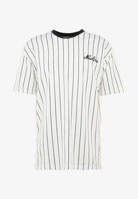 New Era - NEW ERA PINSTRIPE OVERSIZED TEE - Print T-shirt - off white/navy - 3