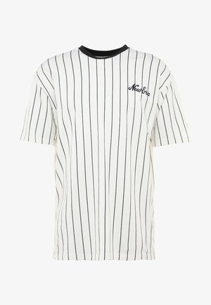 NEW ERA PINSTRIPE OVERSIZED TEE - Print T-shirt - off white/navy