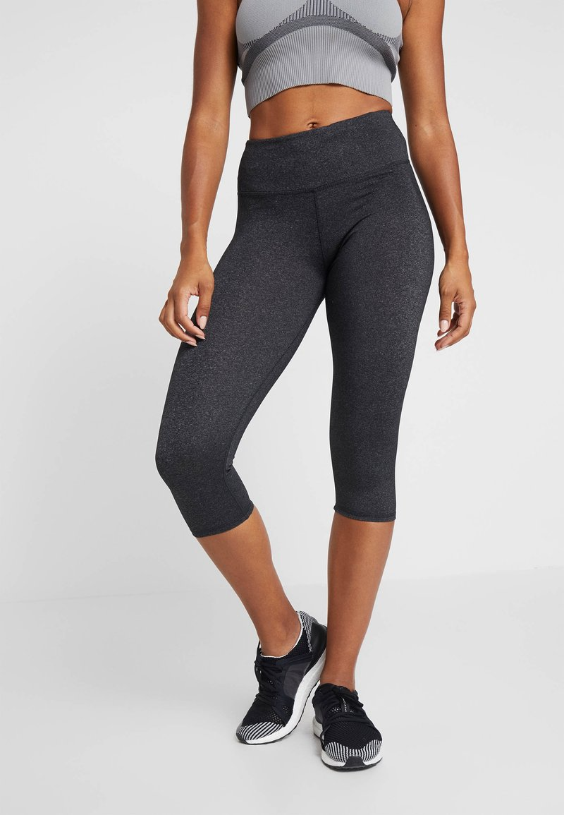 Cotton On Body - ACTIVE CORE CAPRI - 3/4 sports trousers - charcoaly