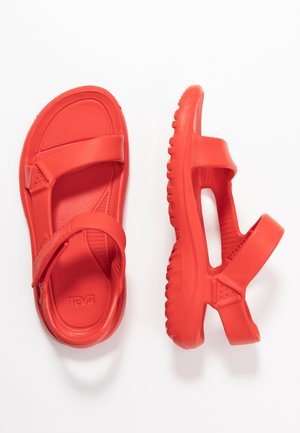 Pool slides - firey red