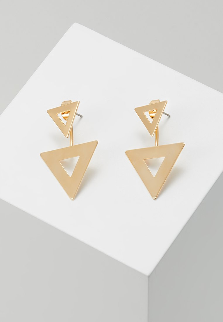 sweet deluxe - DOUBLE TRIANGLE - Earrings - gold-coloured