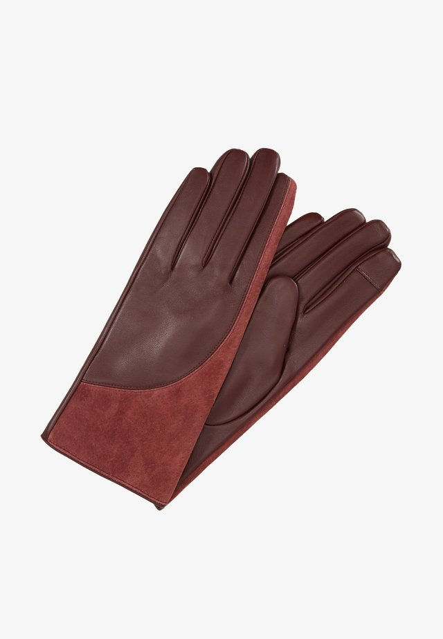 Gloves - bordeaux