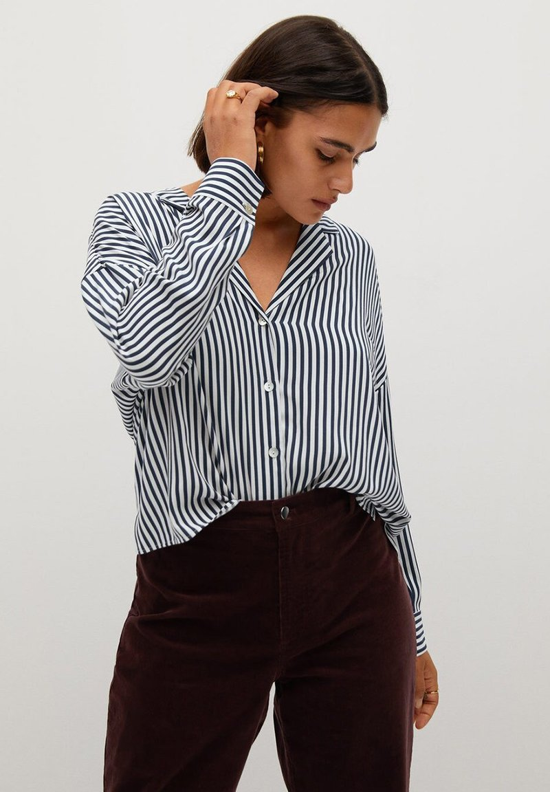 Violeta by Mango - STRIPES - Button-down blouse - blue