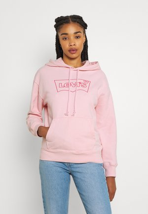 GRAPHIC STANDARD HOODIE - Hoodie - batwing outline red/almond blossom
