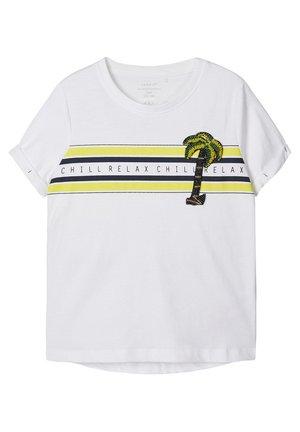 PERLENVERZIERTES - Print T-shirt - bright white 2