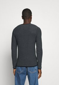 Selected Homme - SLHDEAN MIX CREW NECK - Jumper - sky captain/egret - 2