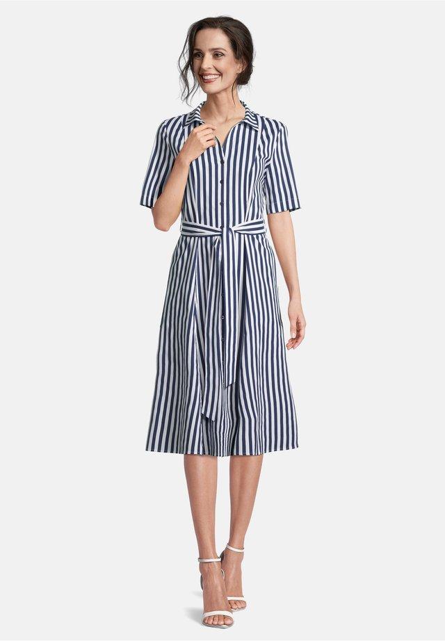 MIT STREIFEN - Shirt dress - blue/white