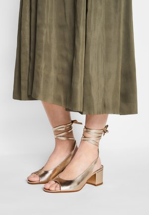 ABRIDO - High heeled sandals - gold