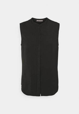 Sleeveless Blouse with gathers - Bluser - black