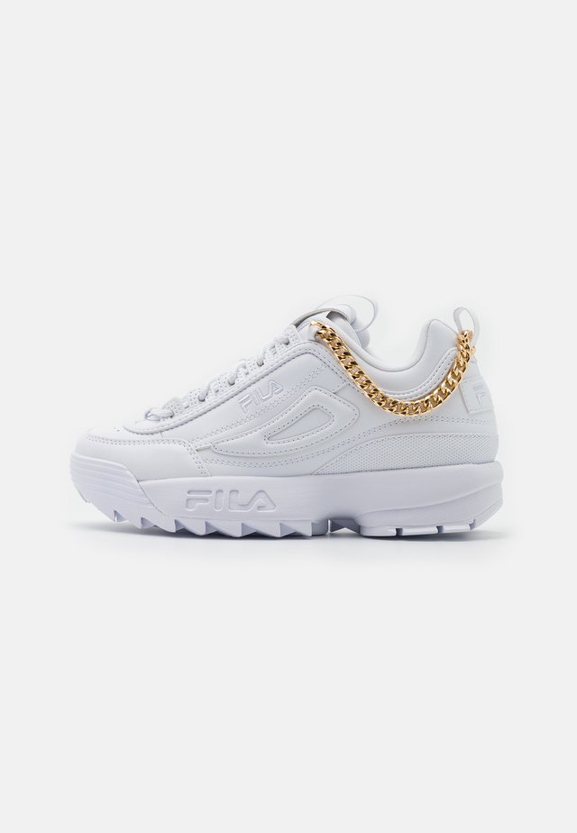 DISRUPTOR CHAIN - Sneakers basse - white/gold