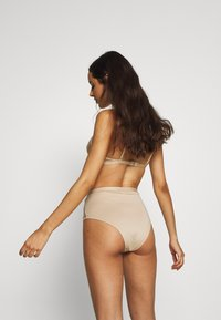 NA-KD - ROMANTIC FRENCH EMBROIDED HIGHWAIST PANTY - Shorty - tapioca - 2