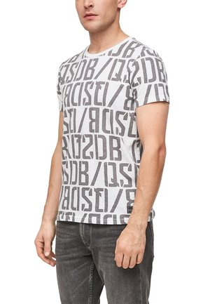 Print T-shirt - white aop