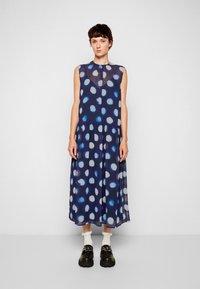 PS Paul Smith - DRESS 2-IN-1 - Day dress - dark blue - 4