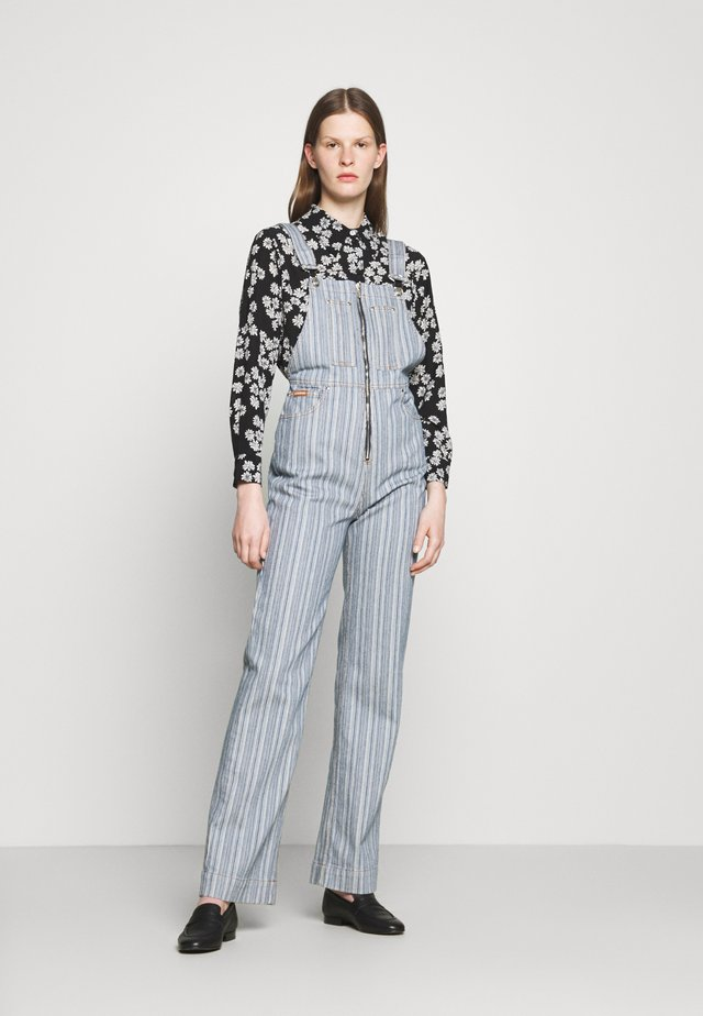 ZIP THROUGH DUGAREES - Dungarees - indigo/azure/off white