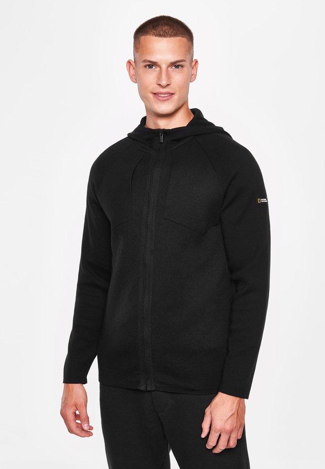 MIT KAPUZE - Zip-up hoodie - black