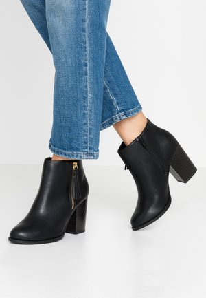 DASSEL - High heeled ankle boots - black