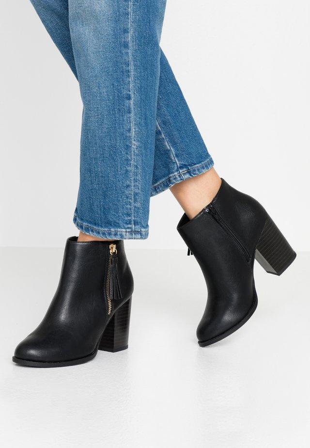 DASSEL - Kotníková obuv na vysokém podpatku - black