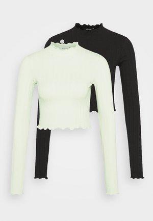 Long sleeved top - green light / black