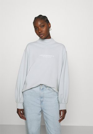 SEASONAL LOGO MOCK NECK CREW  - Sweatshirt - light blue