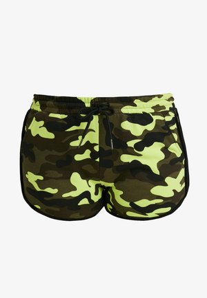 LADIES PRINTED CAMO HOT PANTS - Shorts - frozenyellow