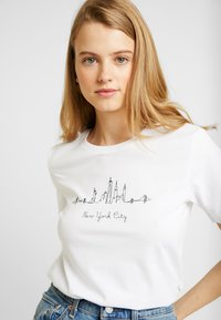 Even&Odd - T-shirt print - white - 3