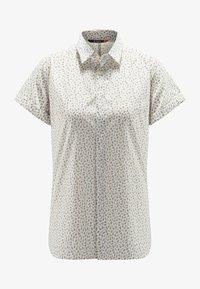 Haglöfs - IDUN SS SHIRT - Button-down blouse - soft white flower - 4
