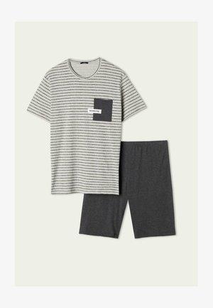 SET - Pyjama - grigio melchiaro strighe