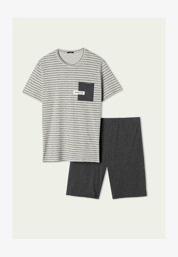 SET - Pyjama set - grigio melchiaro strighe