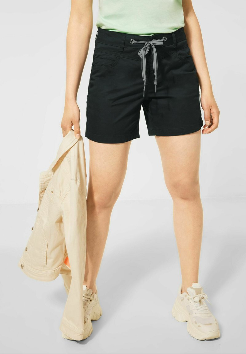 Street One - LOOSE FIT - Shorts - black