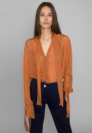 MIT SCHALELEMENT - Blouse - orange